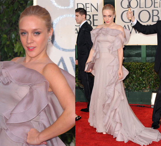 Chloe Sevigny at the 2010 Golden Globe Awards Wearing Valentino