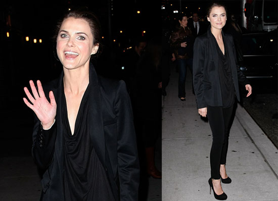 Photos of Extraordinary Measure's Keri Russell Appearing on The Late Show 2010-01-14 15:00:00