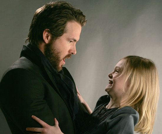 Ryan Reynolds posed with Elle Fanning to promote their movie The Nines at Sundance in 2007.