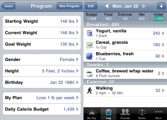 Lose It iPhone App Helps You Reach Weight Loss Goal With Calorie Counter and Food Journal
