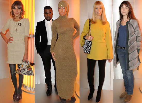 Photos from 2010 Spring Paris Fashion Week with Alexa Chung, Kanye West and Others