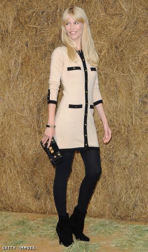 Claudia Schiffer: attending Paris Fashion Week Spring 2010