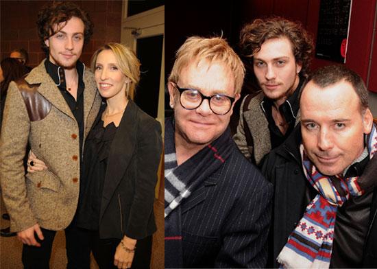 Photos of Aaron Johnson, Elton John, David Furnish and Sam Taylor Wood at the Premiere of Nowhere Boy at Sundance Film Festival