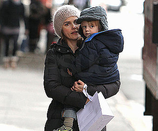 Slide Photo of Keri Russell With River Deary in NYC