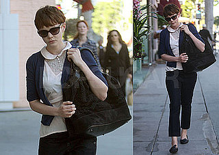 Photos of Carey Mulligan Wearing a Black Bag Running Errands in LA