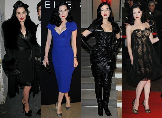 Dita Von Teese at Couture Spring Fashion Week