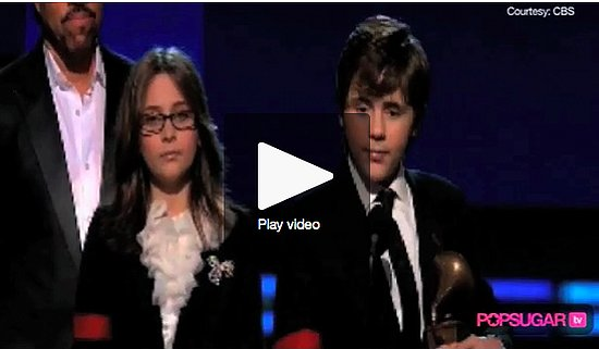 Video of Michael Jackson's Kids Accepting Grammy For Their Father