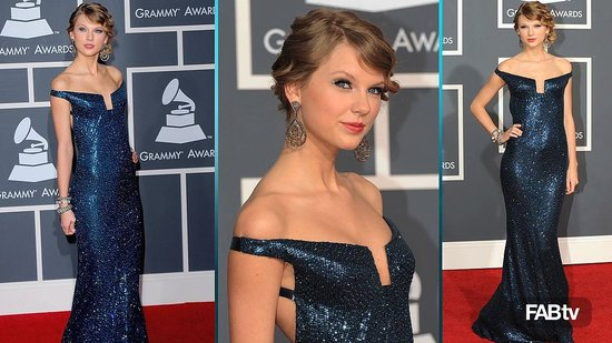 Taylor Swift, 2010 Grammy, Kaufman Franco, Celeb Style, Grammy Awards, Red Carpet, Fashion, Taylor Swift Wearing, Video 2010-02-01 17:39:22