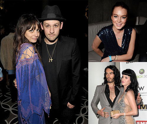 Photos From 2010 Grammy Awards Afterparties With Nicole Richie, Joel Madden, Lindsay Lohan, Katy Perry, and Russell Brand