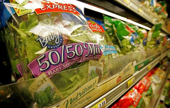 Bacteria and Fecal Contaminants Found in Pre-Washed, Bagged Salad Mixes
