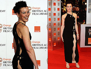 Photos of Olivia Williams in a Revealing Dress at 2010 BAFTA Awards