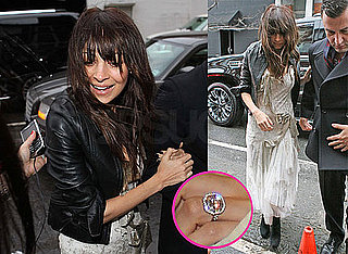 Photos of Nicole Richie Wearing Her Engagement Ring Entering the Nanette Lapore Fashion Show in NYC