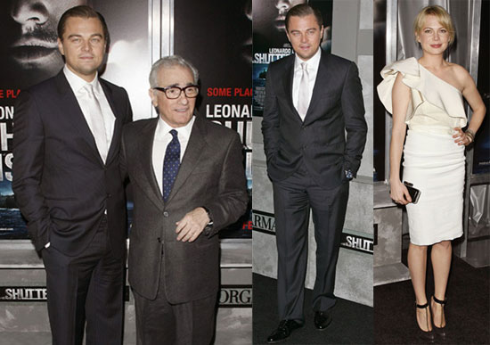 Photos of Michelle Williams, Leonardo DiCaprio, And Martin Scorsese Promoting Shutter Island in NYC
