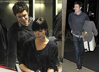 Photos of Adam Brody Flirting With Passengers in the Security Line at LAX