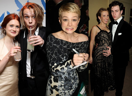 Photos of All the Celebs at the 2010 BAFTA Awards Afterparties Including Bonnie Wright, Jamie Campbell Bower, Carey Mulligan