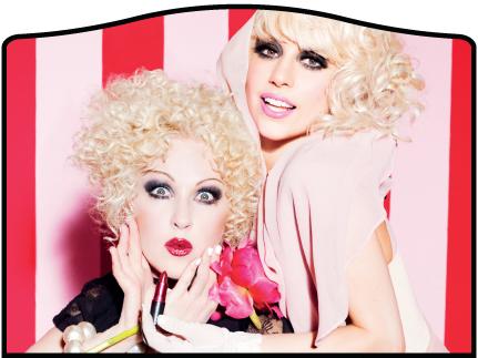 MAC Viva Glam Cyndi and Gaga Swatches