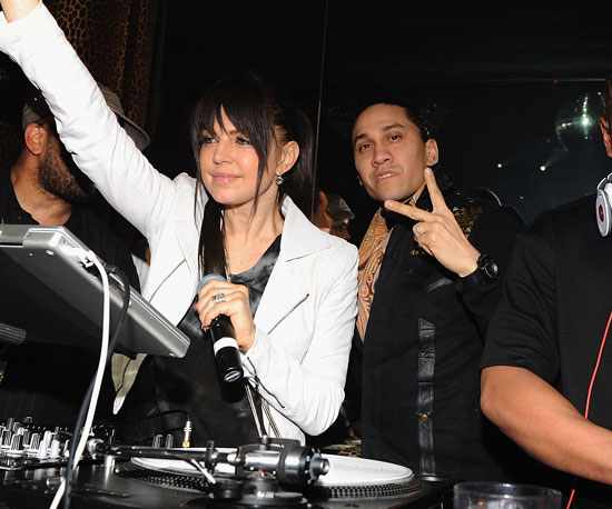 Slide Photo of Fergie and Taboo Partying in NYC