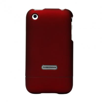 CaseCrown iPhone 3G 3GS Polycarbonate Glider Case - Red Garnet