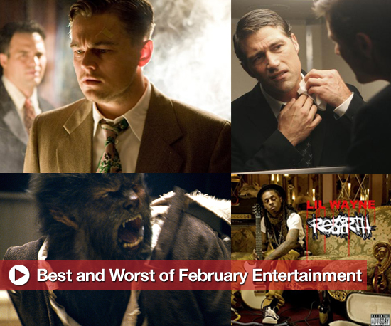 Best and Worst of Movies, TV, and Music in February