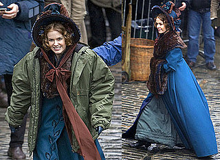 Photos of Isla Fisher and Simon Pegg on the Set of Burke and Hare at Edinburgh Castle