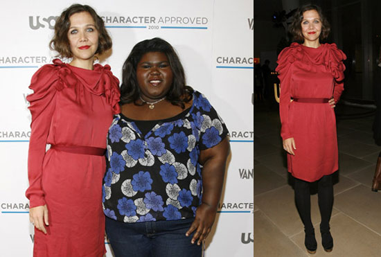Photos of Maggie Gyllenhaal and Gabourey Sidibe at the USA Network's Character Approved Cocktail Party 2010-02-28 15:30:10
