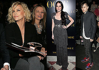 Photos of Lindsay Lohan, Charlize Theron, and Jared Leto at Paris Fashion Week 2010-03-07 23:41:59