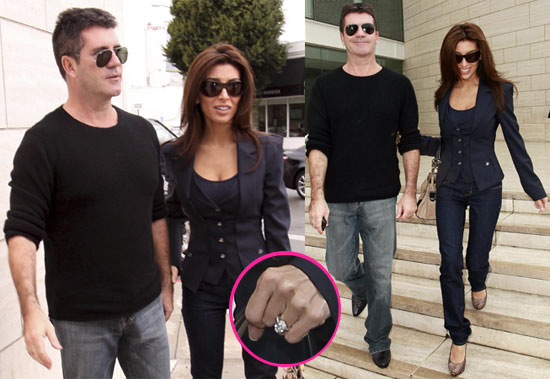 Photos of Simon Cowell And Fiance Mezhgan Hussainy Showing Off Her Huge Engagement Ring in LA