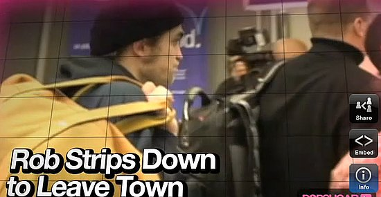 Video: Robert Strips Down to Leave Town!