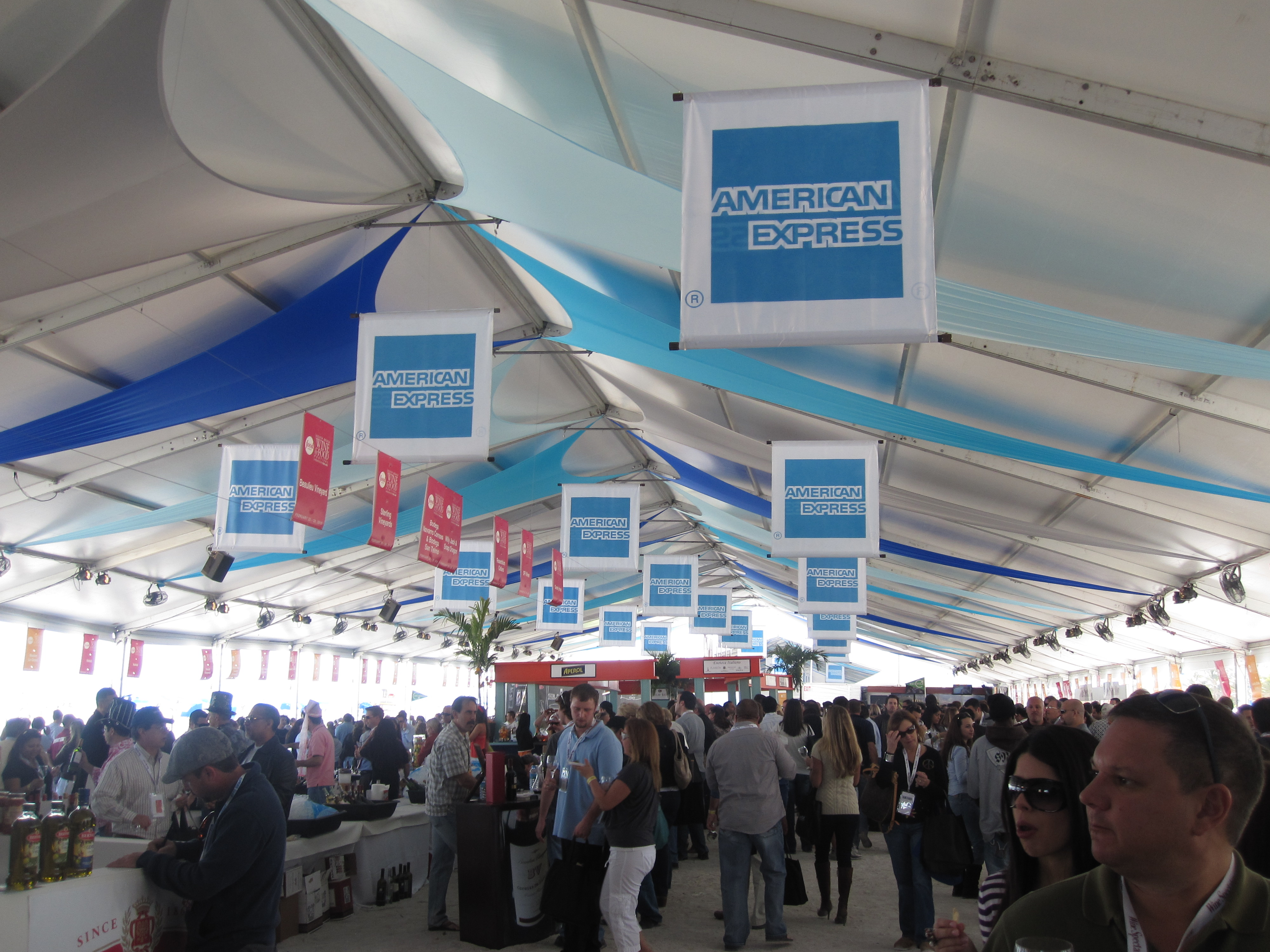 The tasting tents where all the eating and drinking happens.