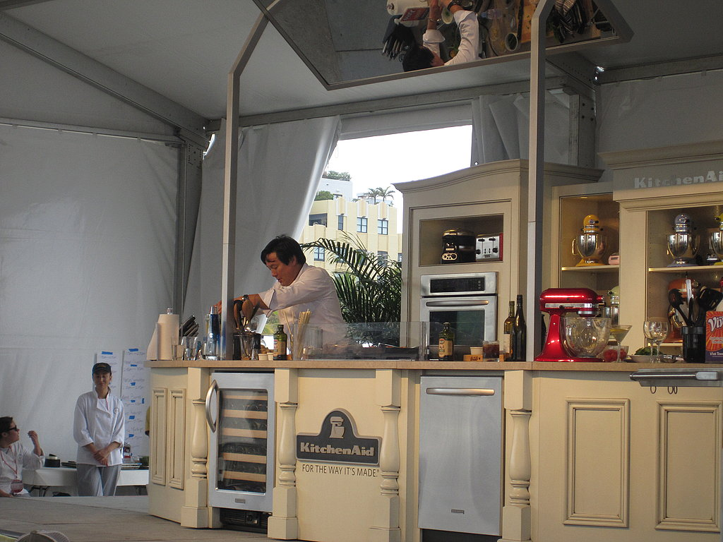 Ming Tsai on the stage at his demo.