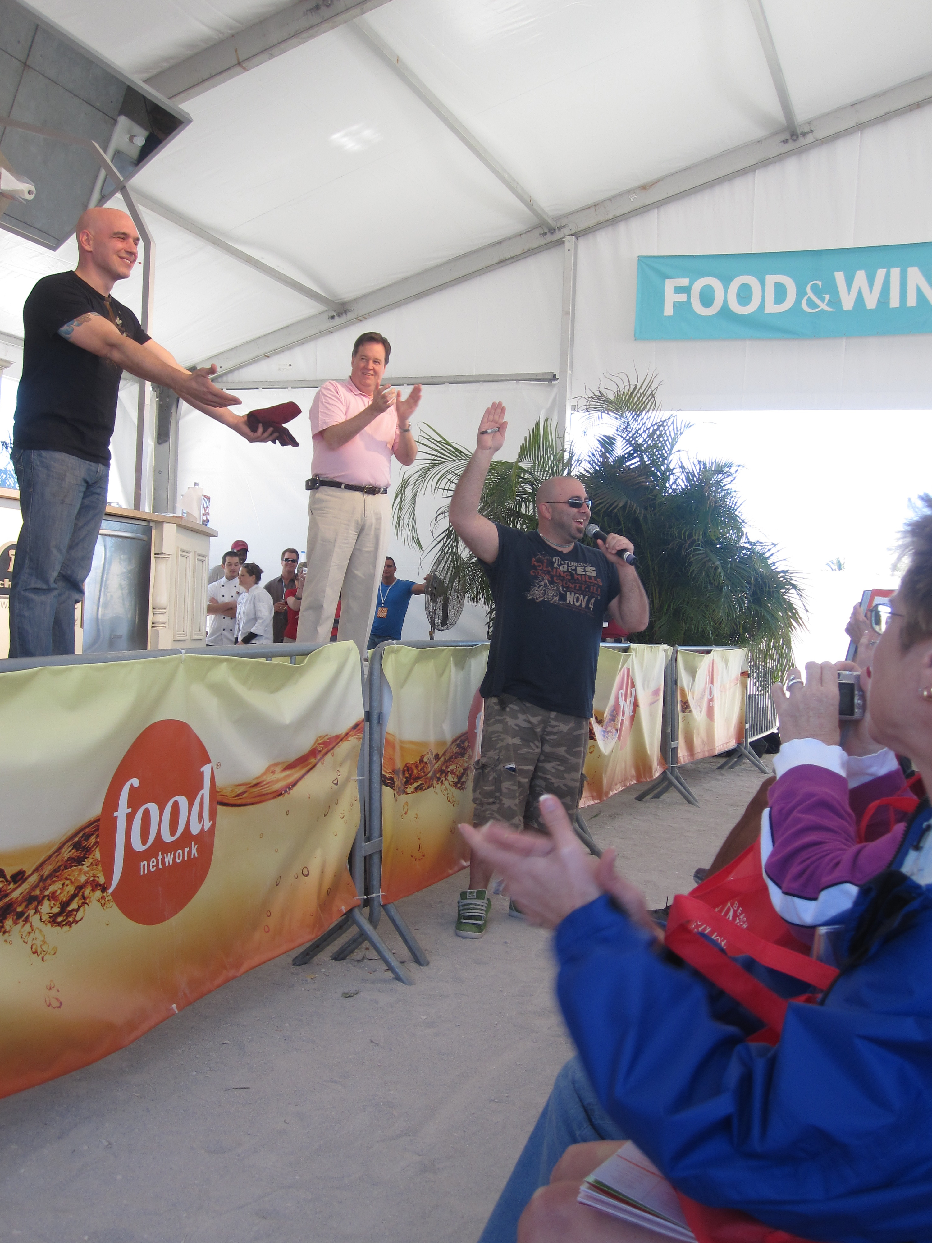 Duff made a special appearance at Michael Symon's demo.