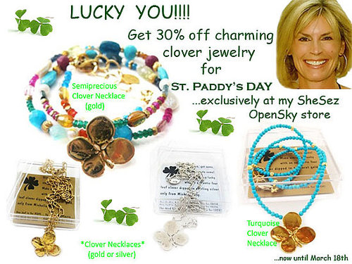 Michelle Roy Clover Collection - the perfect St. Paddy's Day Gift