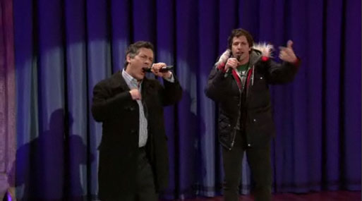 "Video of Chris Parnell and Andy Samberg Singing ""Lazy Sunday"" on The Late Show With Jimmy Fallon"