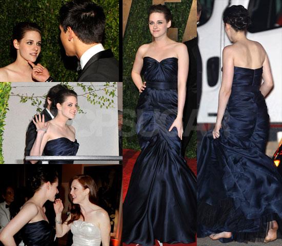 Photos of Kristen Stewart Barefoot at Vanity Fair Oscars Party