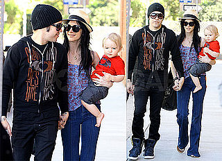 Photos of Pete Wentz, Ashlee Simpson and Brox Running Errands in Los Angeles