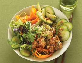 Fast and Simple Spicy Tofu Bento Bowl Recipe