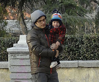Slide Photo of Gael Garcia Bernal and Son Lazaro