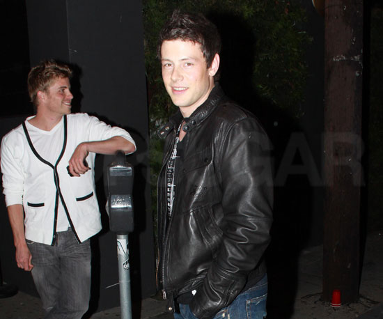 Slide Photo of Corey Monteith in Hollywood