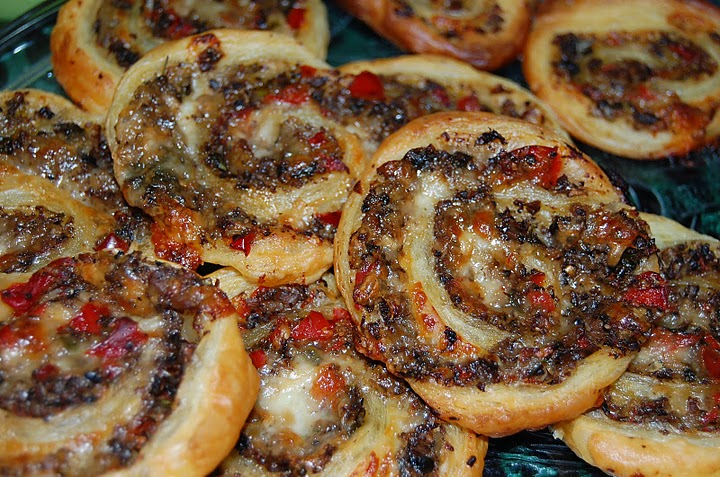 I created this recipe for savory mushroom and Gruyère pinwheels. It was so good, I regret not remembering it.