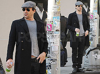 Photos of Mad Men's Jon Hamm Walking in NYC and Showing Some Skin