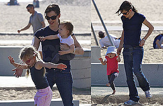 Photos of Jennifer Garner, Violet Affleck, and Seraphina Affleck Together at Santa Monica Beach