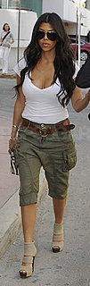 Kourtney Kardashian Dresses Down in Cargo Pants