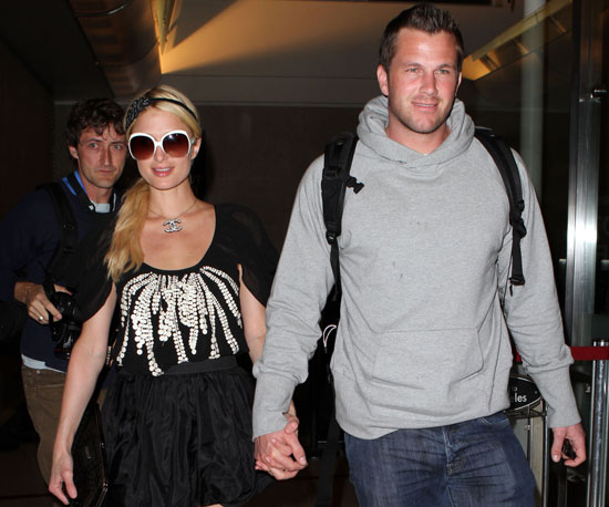 Slide Photo of Paris Hilton and Doug Reinhardt at LAX