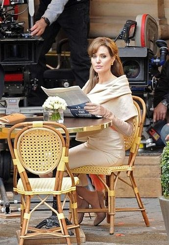 Angelina Jolie on set: The Tourist