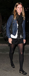 Nicky Hilton in Jean Jacket and Studded Flats Style