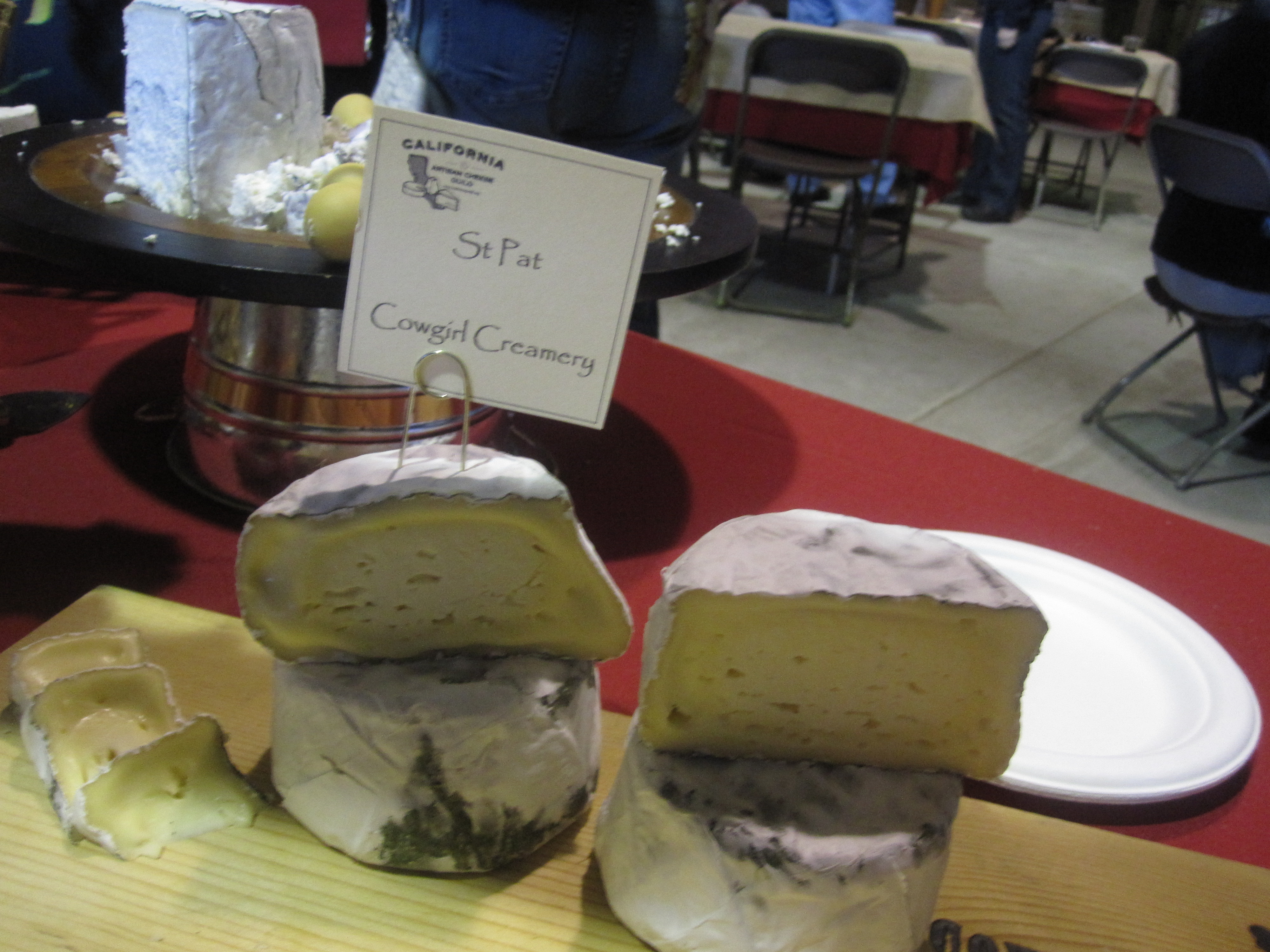 Now on to the star of the show: the cheese! The Cowgirls were there sharing their seasonal St Pat.