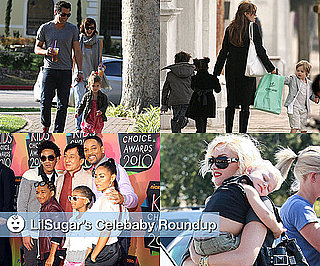 Photos of Gwen Stefani, Zuma Rossdale, Angelina Jolie with Shiloh, Pax and Zahara, Jessica Alba with Honor Warren, Will Smith