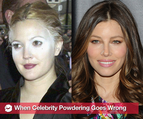 Celebrity Powder Mishaps