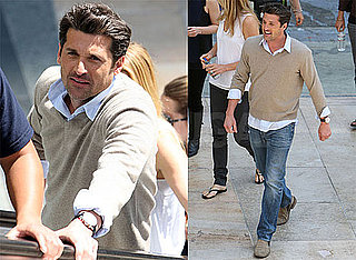 Photos of Patrick and Jillian Dempsey Shooting His L'Oreal Commercial in Los Angeles