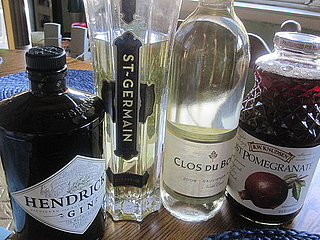 St Germain and Pomegranate Gin Cocktail